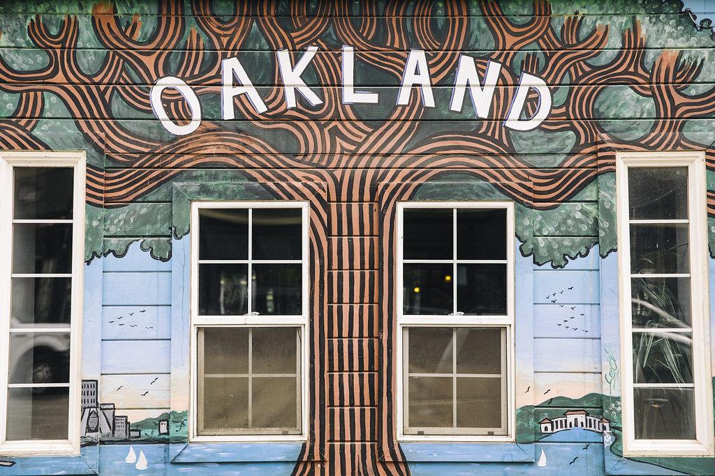 Oakland tree street art
