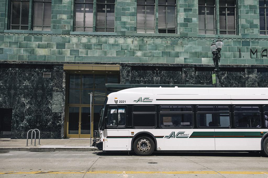 AC Bus stop in neighborhood | ZO Oakland Apartments